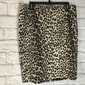 Jones New York leopard print skirt